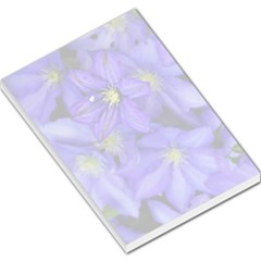 Purple Wildflowers For Fms Large Memo Pad by FunWithFibro