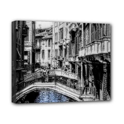 Vintage Venice Canal Canvas 10  X 8  (framed) by bloomingvinedesign