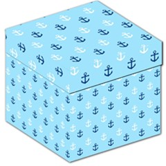 Anchors In Blue And White Storage Stool 12  by StuffOrSomething
