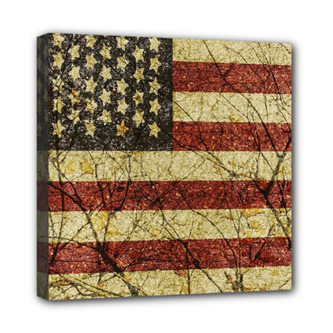 Vinatge American Roots Mini Canvas 8  X 8  (framed) by dflcprints