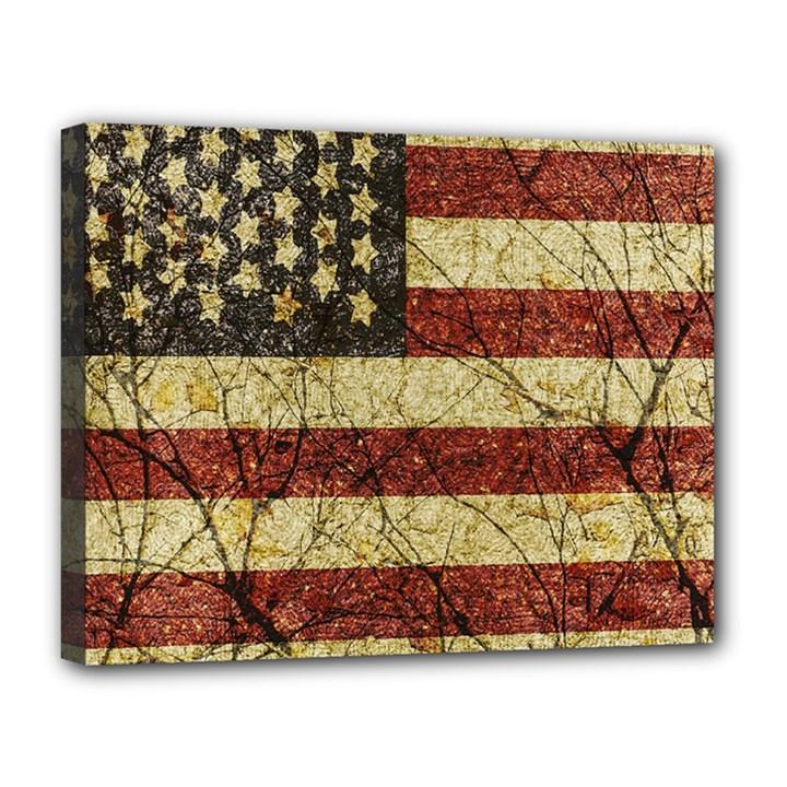 Vinatge American Roots Canvas 14  x 11  (Framed)