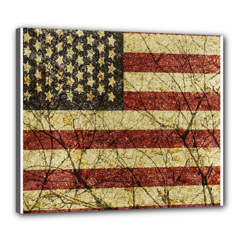 Vinatge American Roots Canvas 24  X 20  (framed) by dflcprints