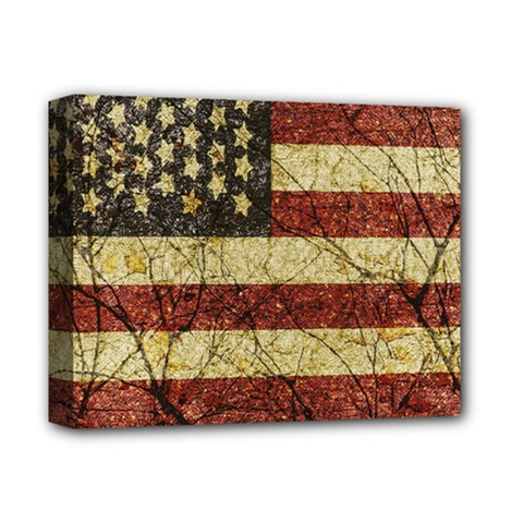 Vinatge American Roots Deluxe Canvas 14  X 11  (framed) by dflcprints