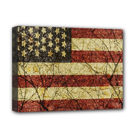Vinatge American Roots Deluxe Canvas 16  X 12  (framed)  by dflcprints