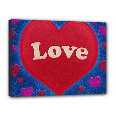 Love Theme Concept  Illustration Motif  Canvas 16  X 12  (framed)