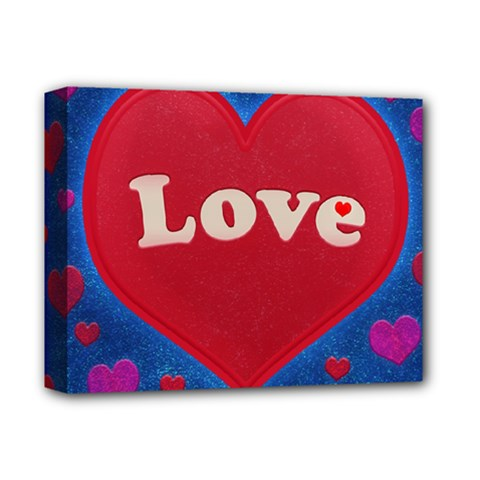 Love Theme Concept  Illustration Motif  Deluxe Canvas 14  X 11  (framed) by dflcprints