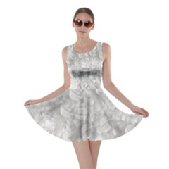 Elegant Silvery Abstract Skater Dress by StuffOrSomething