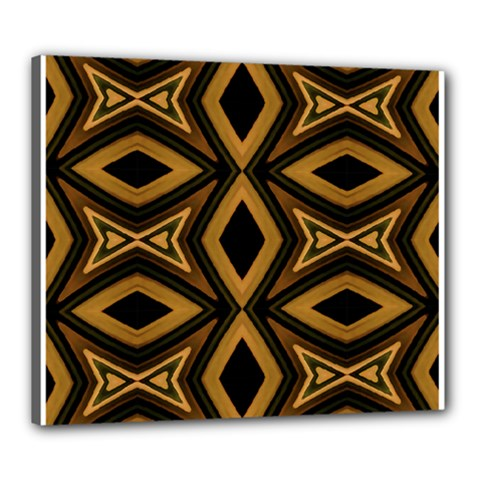 Tribal Diamonds Pattern Brown Colors Abstract Design Canvas 24  X 20  (framed) by dflcprints