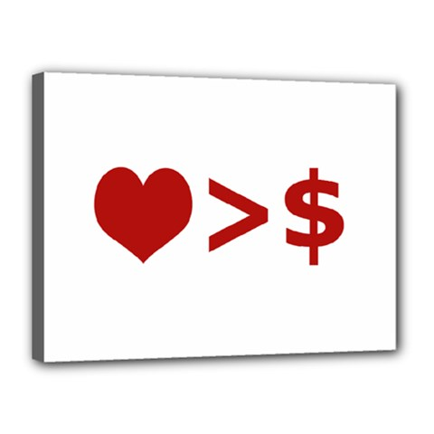 Love Is More Than Money Canvas 16  X 12  (framed) by dflcprints