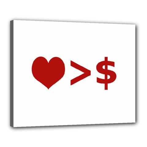 Love Is More Than Money Canvas 20  X 16  (framed) by dflcprints