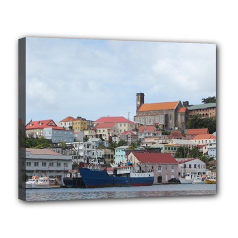 Harbor Of St  George s Canvas 14  X 11  (framed) by stineshop