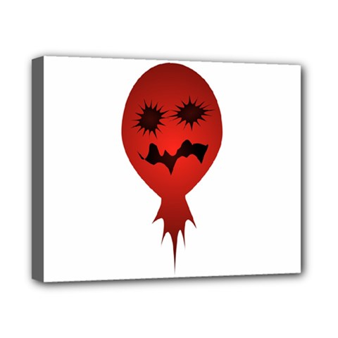 Evil Face Vector Illustration Canvas 10  X 8  (framed) by dflcprints