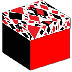 Distorted Diamonds in Black & Red Storage Stool 12  by StuffOrSomething
