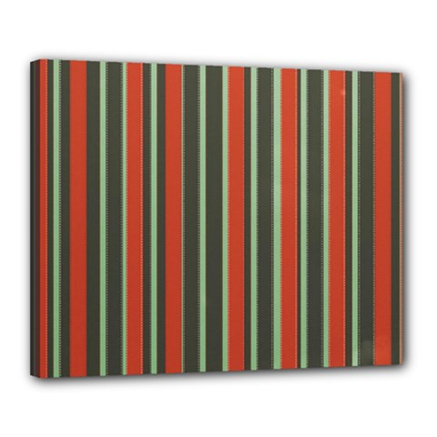 Festive Stripe Canvas 20  X 16  (framed) by Colorfulart23