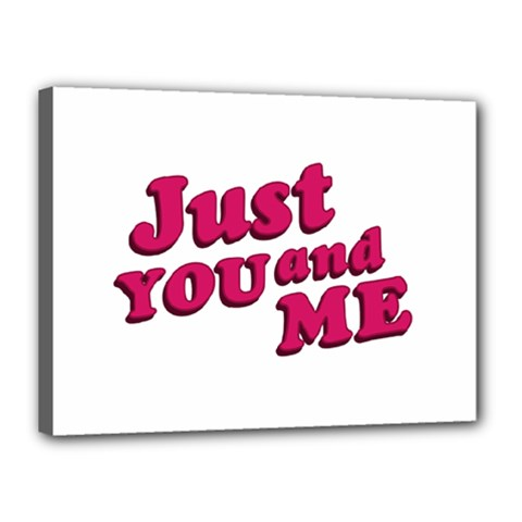 Just You And Me Typographic Statement Design Canvas 16  X 12  (framed) by dflcprints