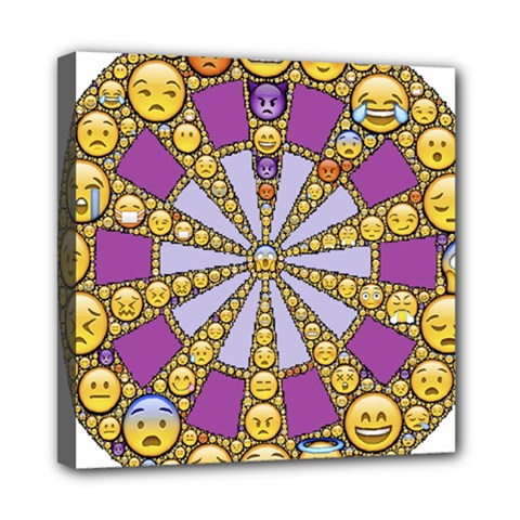 Circle Of Emotions Mini Canvas 8  X 8  (framed) by FunWithFibro