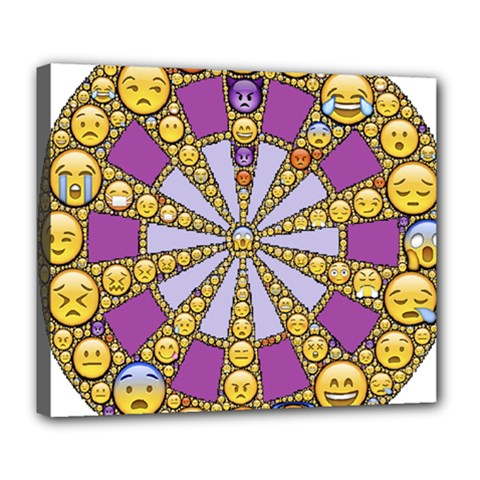 Circle Of Emotions Deluxe Canvas 24  X 20  (framed) by FunWithFibro