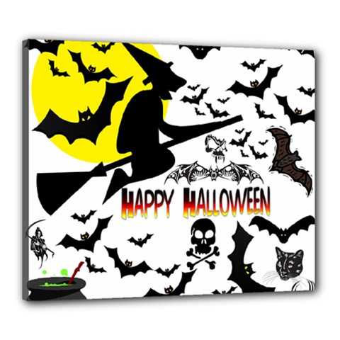 Happy Halloween Collage Canvas 24  X 20  (framed) by StuffOrSomething