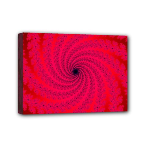 Fracrtal Mini Canvas 7  X 5  (framed) by UROCKtheWorldDesign