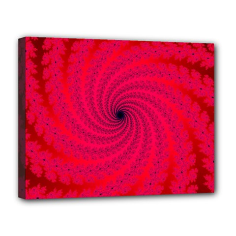 Fracrtal Canvas 14  X 11  (framed) by UROCKtheWorldDesign