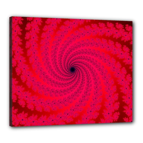 Fracrtal Canvas 24  X 20  (framed) by UROCKtheWorldDesign