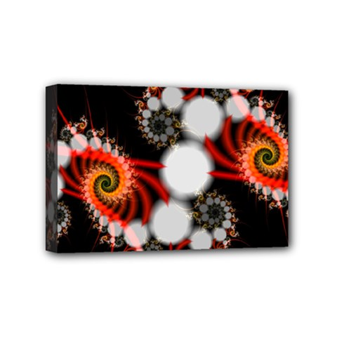 Mysterious Dance In Orange, Gold, White In Joy Mini Canvas 6  X 4  (framed) by DianeClancy