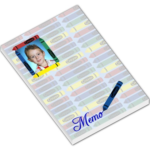 Crayon Large Memo Pad 2 By Chere s Creations   Large Memo Pads   77ui122ani2b   Www Artscow Com