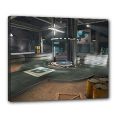 TF2 Coldfront Capture Point Print - Canvas 20  x 16  (Stretched)