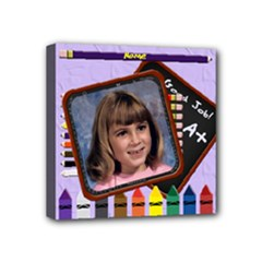 Back to School Pencil Mini Canvase 4 x4  - Mini Canvas 4  x 4  (Stretched)