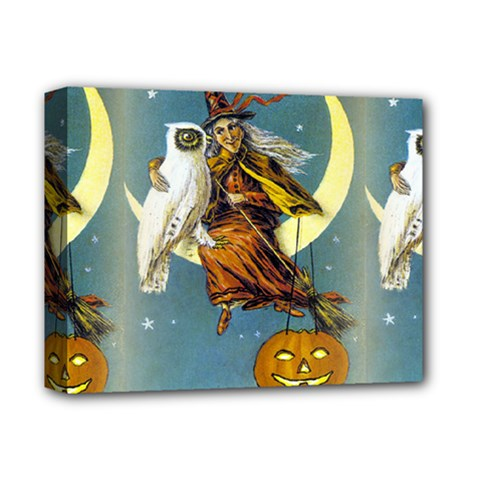 Vintage Halloween Witch Deluxe Canvas 14  x 11  (Framed) by EndlessVintage