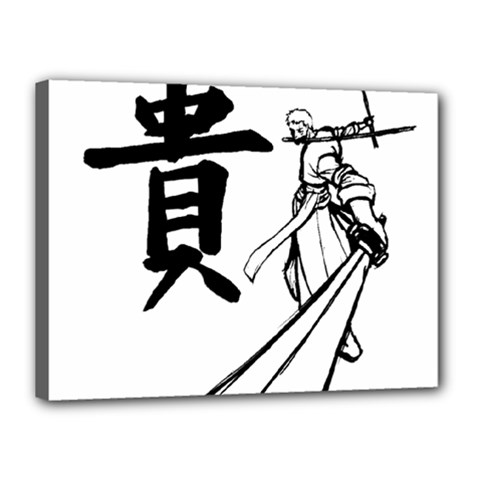 A Swordsman s Honor Canvas 16  X 12  (framed) by Viewtifuldrew