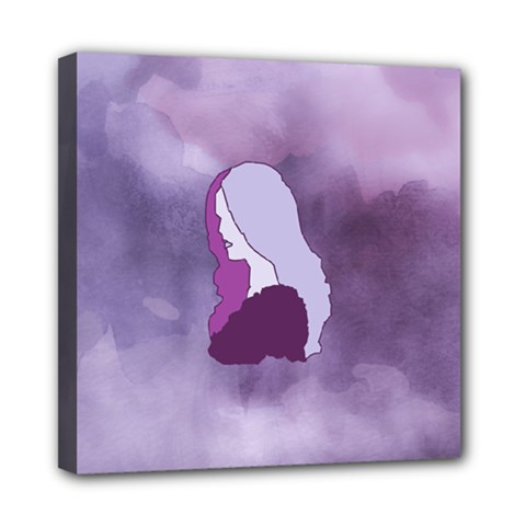 Profile Of Pain Mini Canvas 8  X 8  (framed) by FunWithFibro