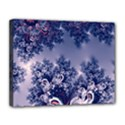 Pink and Blue Morning Frost Fractal Canvas 14  x 11  (Framed) View1
