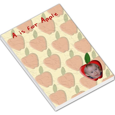 A Is For Apple Large Memo Pad By Chere s Creations   Large Memo Pads   E8u37fnxggmf   Www Artscow Com