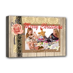 merry christmas - Deluxe Canvas 18  x 12  (Stretched)