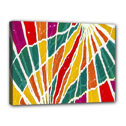 Multicolored Vibrations Canvas 16  X 12  (framed) by dflcprints