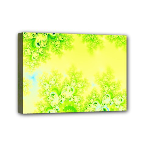 Sunny Spring Frost Fractal Mini Canvas 7  X 5  (framed) by Artist4God