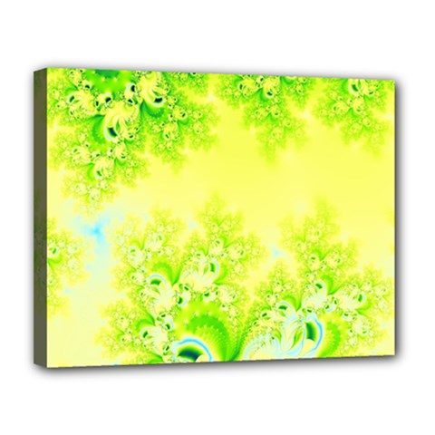 Sunny Spring Frost Fractal Canvas 14  X 11  (framed) by Artist4God