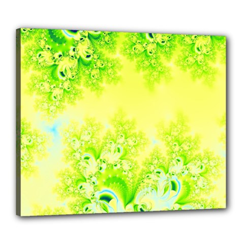 Sunny Spring Frost Fractal Canvas 24  X 20  (framed) by Artist4God