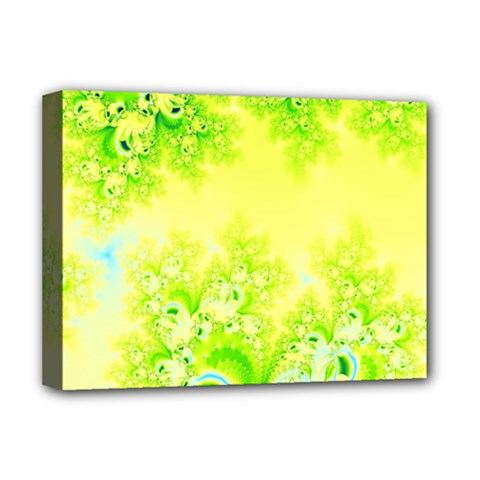 Sunny Spring Frost Fractal Deluxe Canvas 16  X 12  (framed)  by Artist4God
