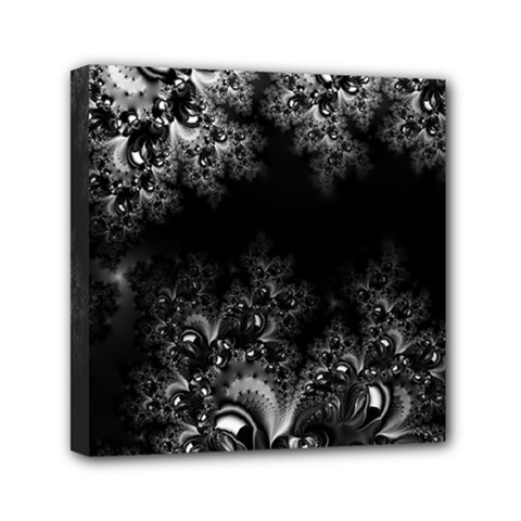 Midnight Frost Fractal Mini Canvas 6  X 6  (framed) by Artist4God