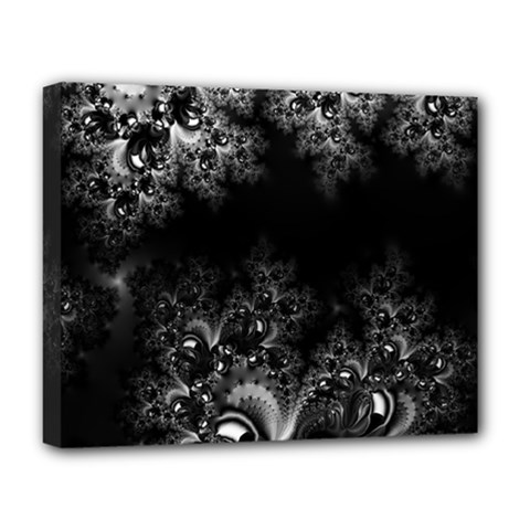 Midnight Frost Fractal Deluxe Canvas 20  X 16  (framed) by Artist4God