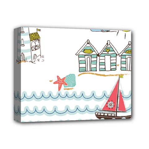 Summer Holiday Deluxe Canvas 14  X 11  (framed) by whitemagnolia