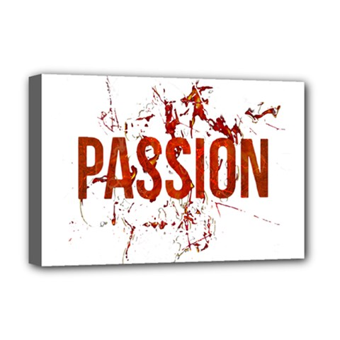 Passion And Lust Grunge Design Deluxe Canvas 18  X 12  (framed) by dflcprints