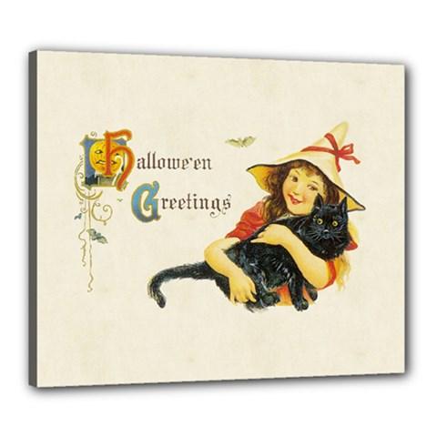 Hallowe en Greetings Canvas 24  x 20  (Framed) by EndlessVintage