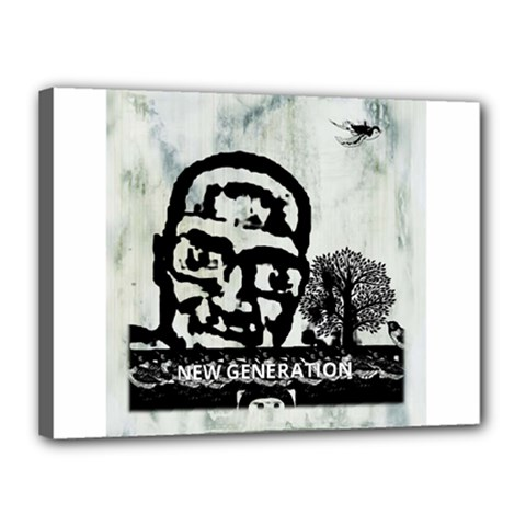 M G Firetested Canvas 16  X 12  (framed) by holyhiphopglobalshop1