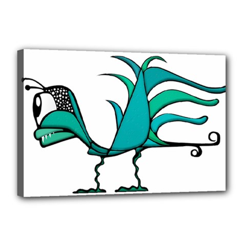 Fantasy Bird Canvas 18  X 12  (framed) by dflcprints