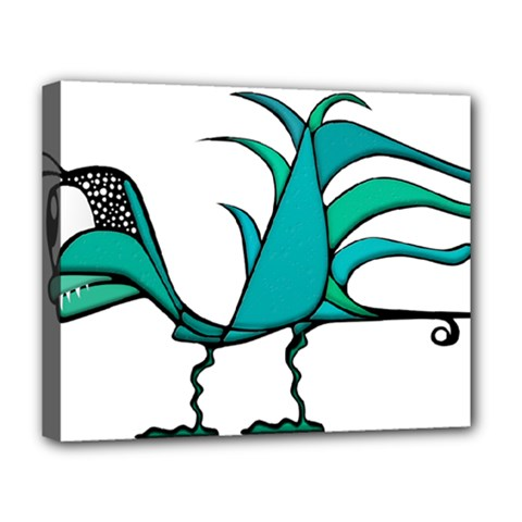 Fantasy Bird Deluxe Canvas 20  X 16  (framed) by dflcprints