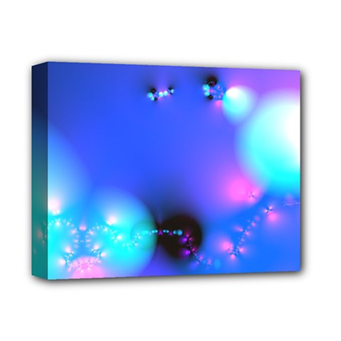 Love In Action, Pink, Purple, Blue Heartbeat 10000x7500 Deluxe Canvas 14  X 11  (framed)
