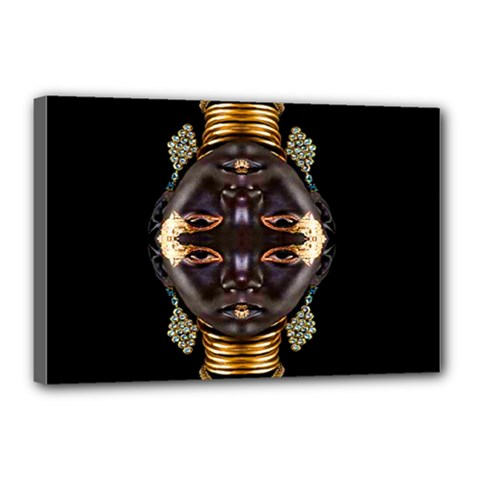 African Goddess Canvas 18  X 12  (framed) by icarusismartdesigns